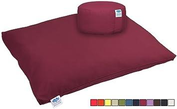 CalmingBreath meditación de Yoga Conjunto con Alfombra y cojín, algodón - Grandes Colores!