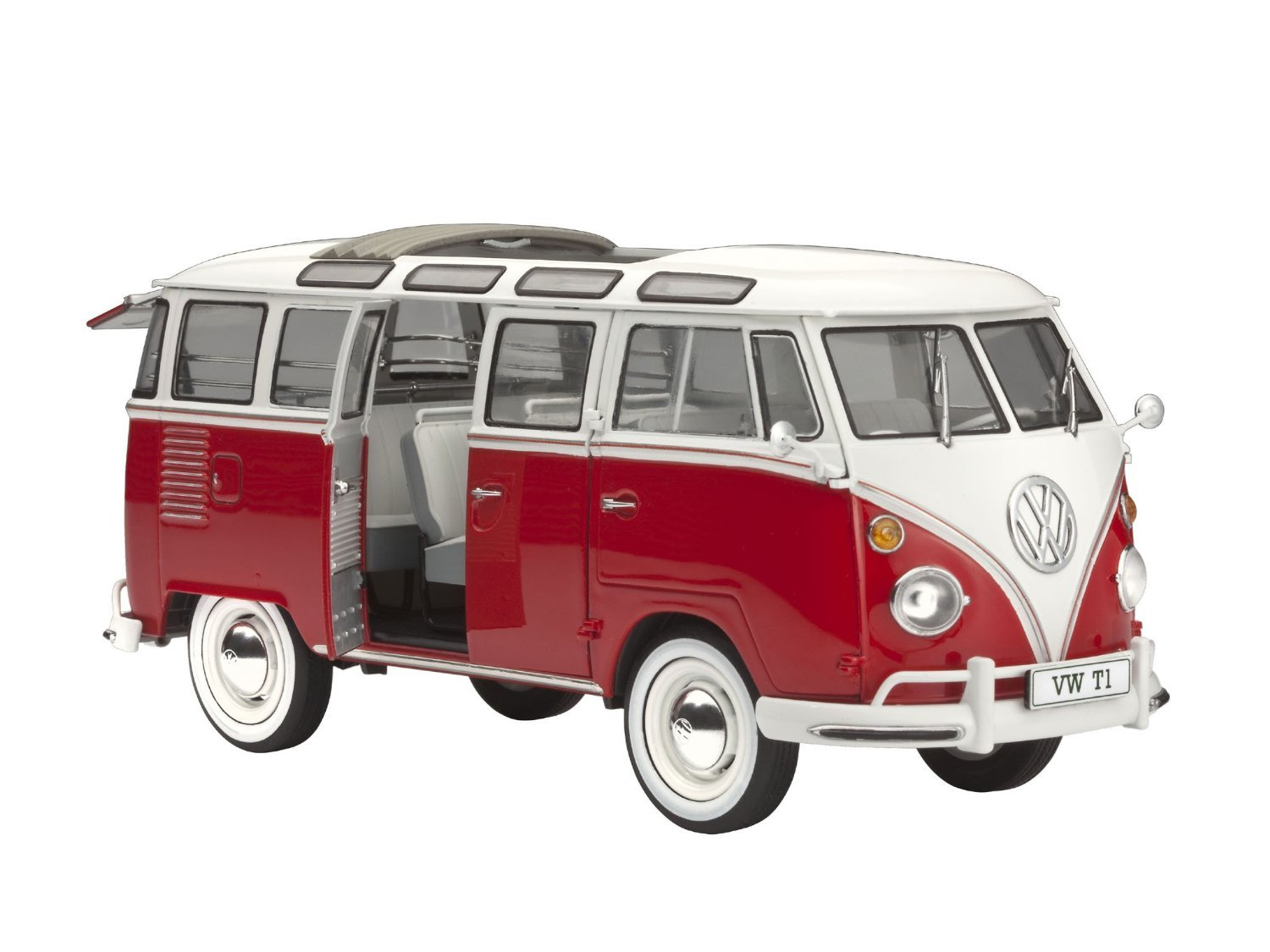 Amazon 124 revell vw samba bus model kit toys games thecheapjerseys Choice Image