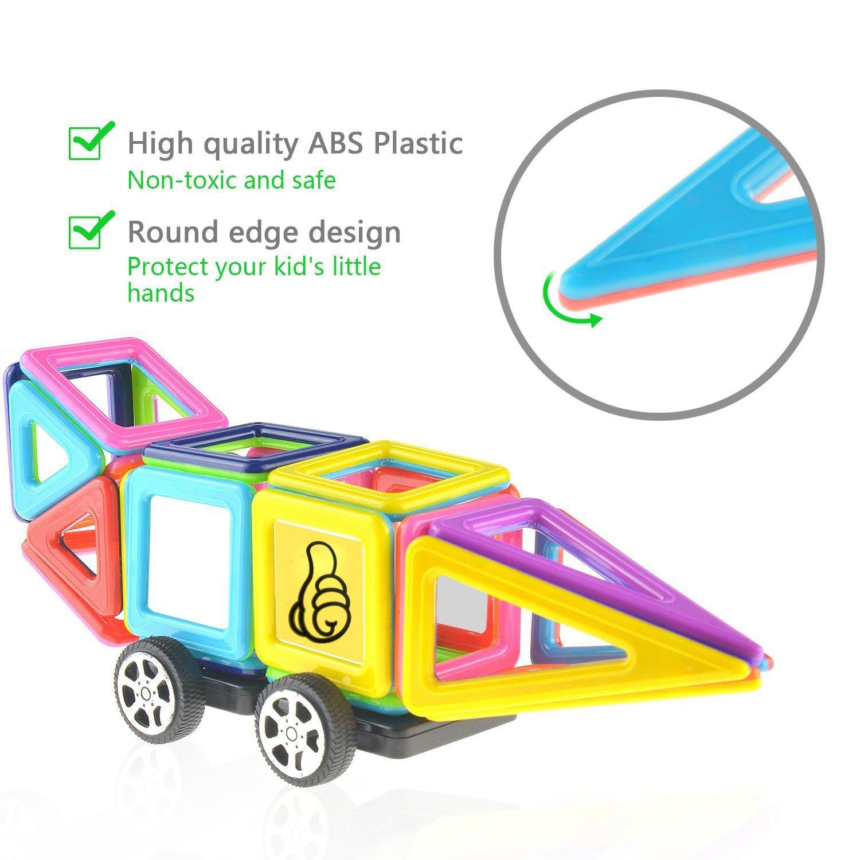 URXTRAL 76 Piezas Bloques de construcción 3D magnéticos: Amazon.es ...