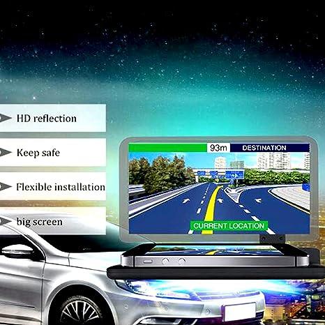 soekavia Universal Head Up pantalla, coche teléfono soporte de GPS HUD Head Up Display reflexión Proyector ...