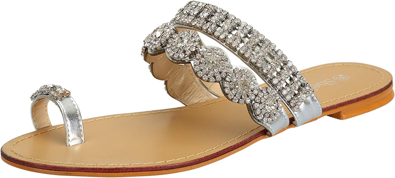 SheSole Womens Rhinestone Toe Rings