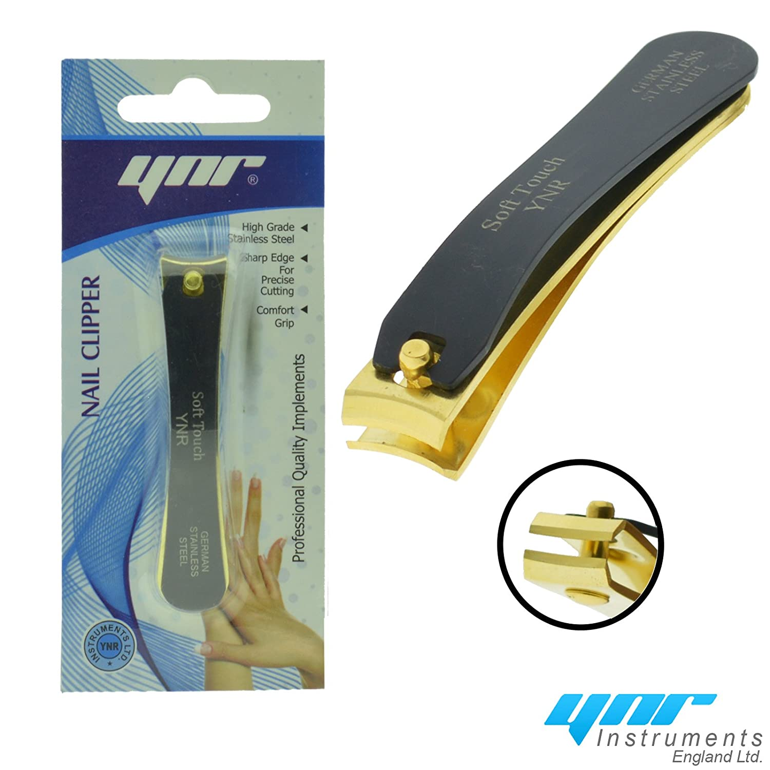 Professional German Black & Gold Toe Nail Cutter Clipper Nippers Chiropody Heavy Duty Thick Nails YNR Instruments Ltd B -1