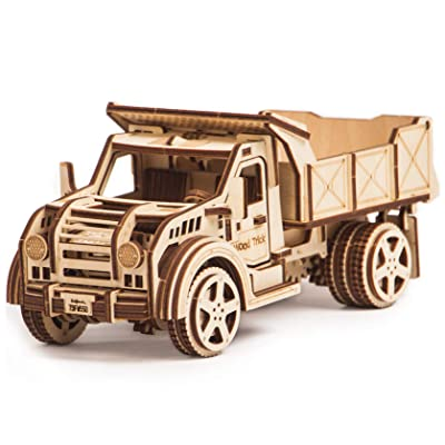 Wood Trick American Jeep Truck Model Kit with Functional Moving Body - 3D Wooden Puzzle, Assembly Toys, ECO Wooden Toys, Best DIY Toy - STEM Toys for Boys and Girls: Toys & Games