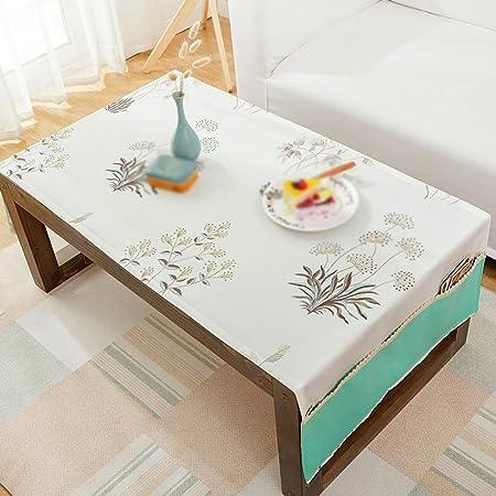 Sala de estar rectangular Pequeña mesa de café bordado puede lavar ...