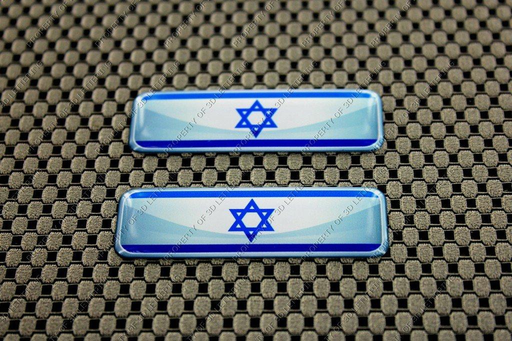 Israel Flagge 3D Aufkleber Aufkleber Set