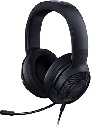 Razer Kraken X: 7.1 Surround Sound Gaming Headset with Cross-Platform Compatibility, Ultra-Light Ergonomic Build at 250 g, Classic Black - RZ04-02890100-R3M1