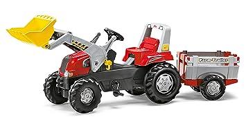 rolly toys - Tractor con remolque para niños Junior RT (811397)