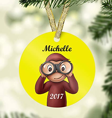 Curious George Christmas Ornament-Kids personalized Christmas ornament-Unique  Christmas Ornament-First Christmas - Amazon.com: Curious George Christmas Ornament-Kids Personalized
