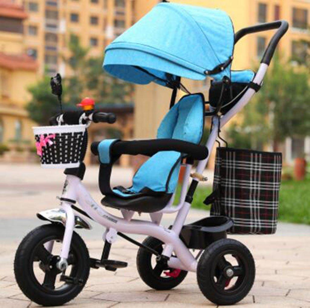Carrito de bebé Triciclo de niños Bicicletas de bebé para Hombres y Mujeres/ Carrito de bebé para niños de 1-2-3-6 años de Edad.