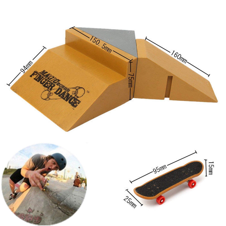 Amazon.com: Dedo monopatín Skatepark, 3 piezas DIY Kit de ...