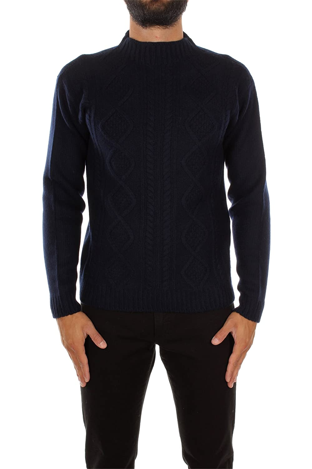 SMM840BLEU Prada Sweatshirts Men Wool Blue