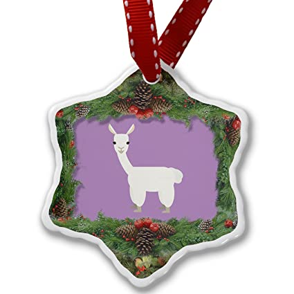 christmas ornament cute animals for kids llama neonblond