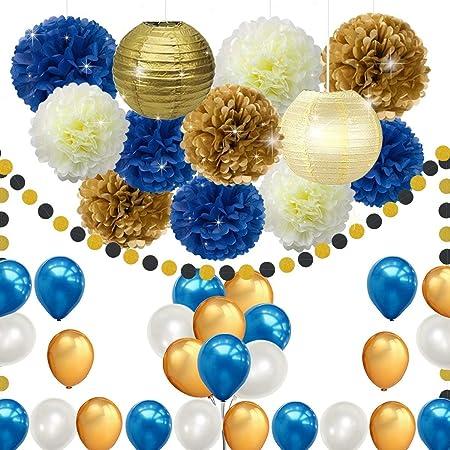 Erosion - 45 Globos para Fiestas de cumpleaños, Color Azul ...