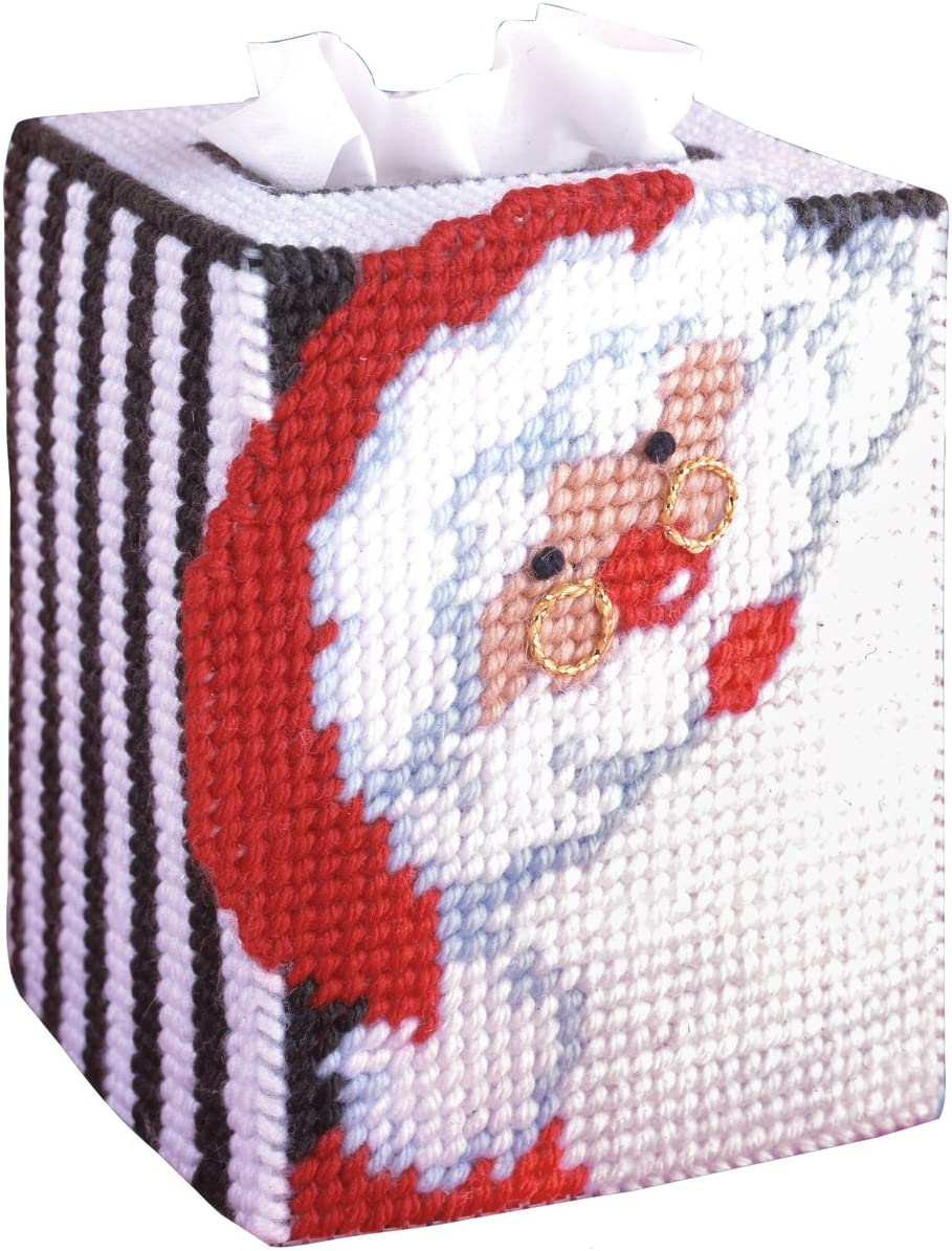 Plastic Canvas Needlepoint Santa Coasters Kit