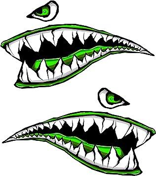 Amazon.com: Tanque de Gas Side Fighter tiburón dientes verde ...