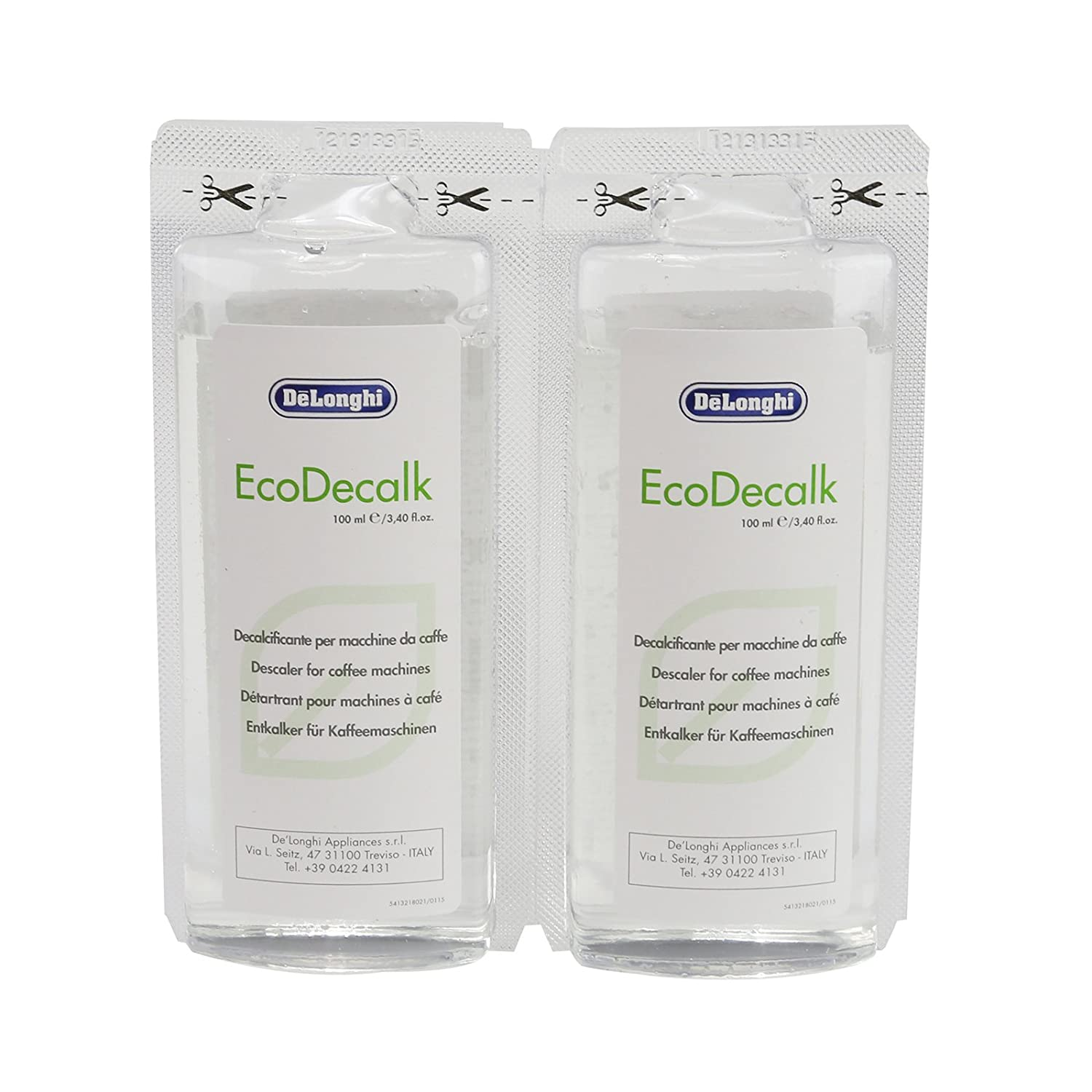 Delonghi Eco Nokalk Espresso Coffee Maker Natural Descaler & Water Filter 200ml First4Spares