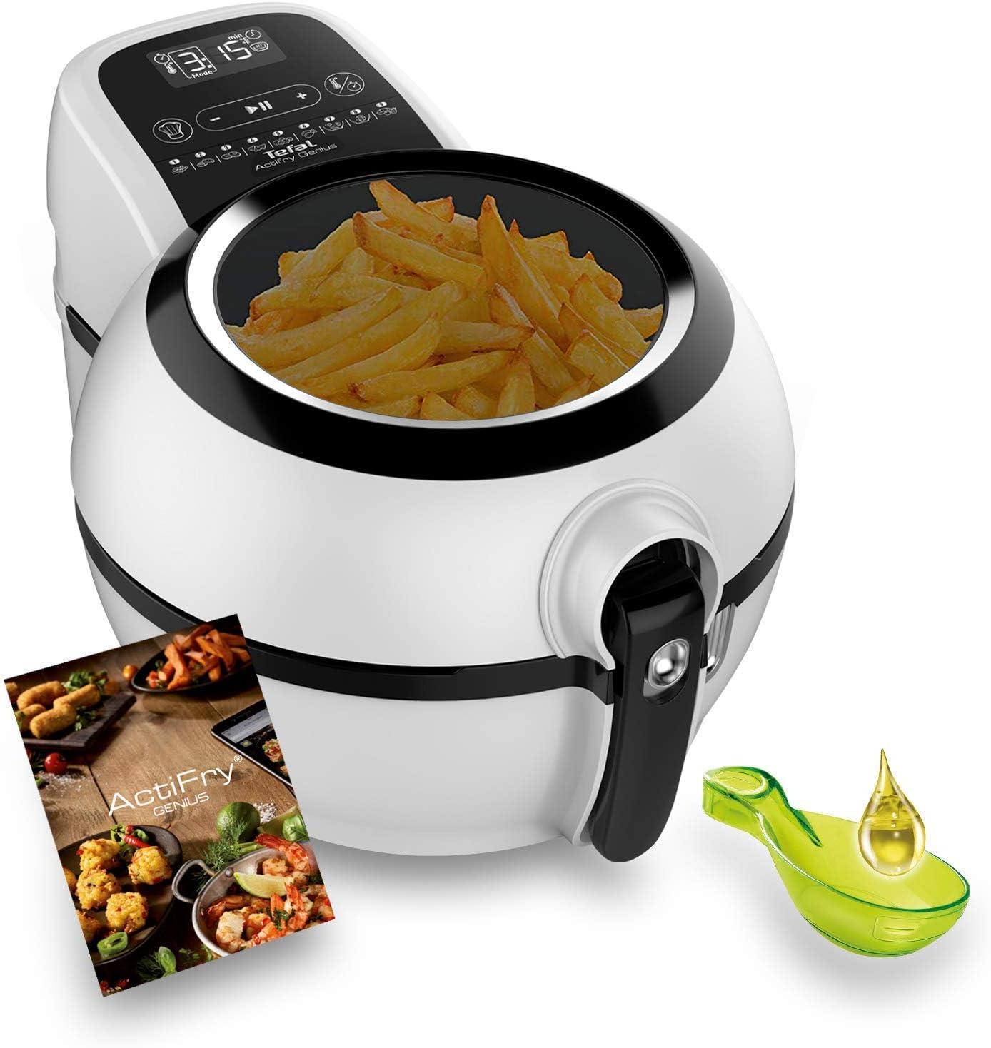 Tefal FZ761015 Actifry Genius Snaking - Freidora sin aceite, 1,2 kg, con 9 programas automáticos, panel táctil intuitivo, apto para lavavajillas, color negro (Reacondicionado Certificado): Amazon.es: Hogar