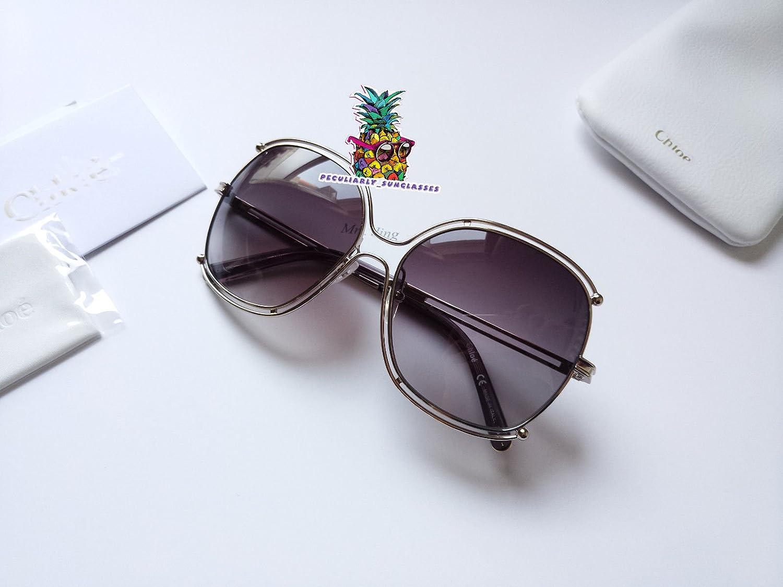Unisex Sonnenbrillen für CHOLE Sonnenbrillen New Gradient Farbe Lens Openwork Eyeglasses For CE129s Sunglasses