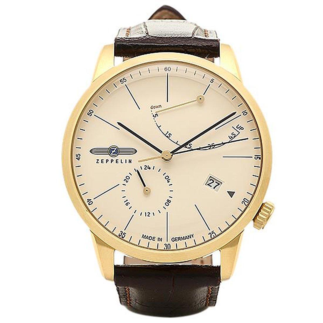 [ツェッペリン] 腕時計 ZEPPELIN 73685 ゴールド ブラウン [並行輸入品] B018TLZJFW