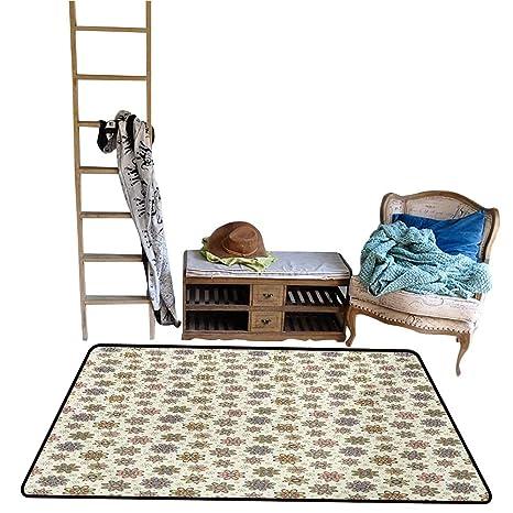 Amazon.com : Jouiysce Bedroom Carpet Colorful, Abstract ...
