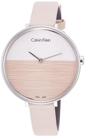 Calvin Klein Reloj Analógico de Cuarzo para Mujer con Correa de Cuero - K7A231XH: Amazon.es: Relojes
