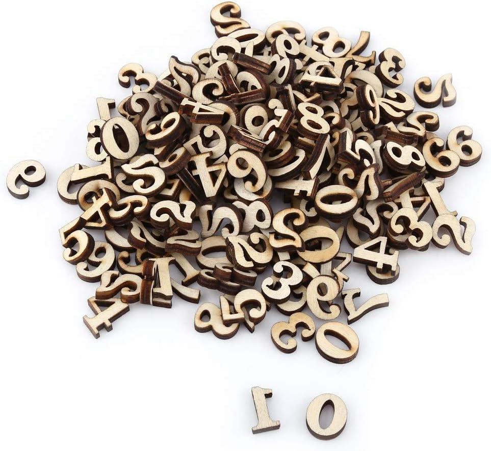 200 unids Mixta de Madera A-Z Letras 0-9 N/úmeros de Madera del Alfabeto para Artesan/ías Colgantes DIY Decoraci/ón Muestra Ni/ños Juguetes de Aprendizaje Temprano # 2