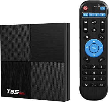 T95 Mini Android 9.0 TV Box, TUREWELL Android Box 2GB RAM 16GB ROM TV Box H6 Quadcore Cortex-A53 Smart TV Box 2.4GHz WiFi 3D 6K Android Box Streaming Media Player: Amazon.es: Electrónica