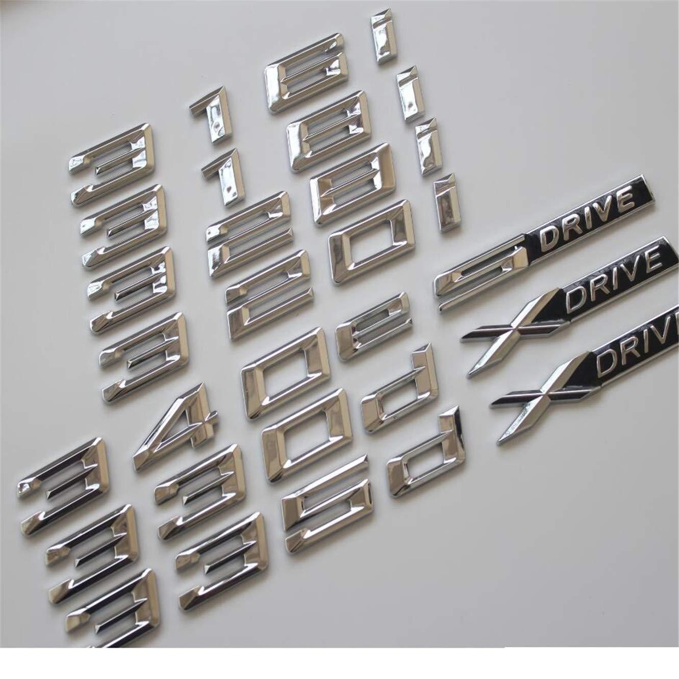 Stemma per Cassetta delle Lettere cromate F30 F35 F80 F31 320i 330i 340i 318i 316i 328i 335i 330d 335d 340e XDrive DGF HGF