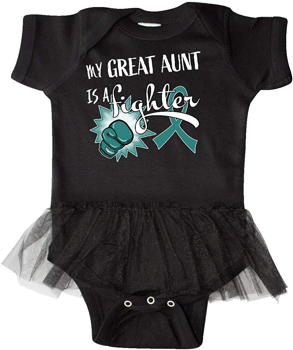 My Great Aunt is a Infant Tutu Bodysuit inktastic Ovarian Cancer Awareness