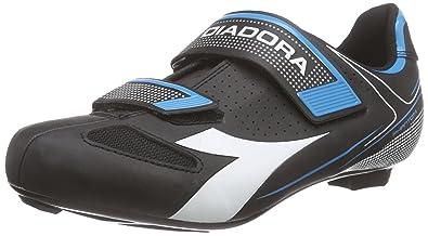 Diadora TRIVEX II, Unisex-Erwachsene Radsportschuhe - Rennrad, Schwarz (Black/White/Yellow fluo3740), 42 EU
