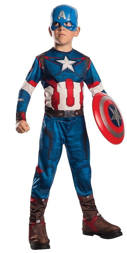 4067f6dd943 Rubie`s Marvel 610424-L- Disfraz Capitán América Set con disfraz y máscara