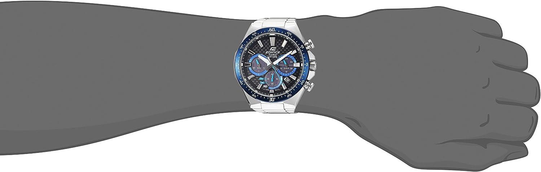 Casio Men s Edifice Quartz Watch with Stainless-Steel Strap, Silver, 20 Model EQS-800CDB-1BVCF