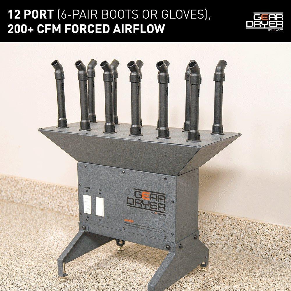 GearDryer Freestanding 12 Boot Glove Dryer | 6 Pair Boot, Shoe Glove Dryer | Dryer Warmer Ski Boots, Work Boots, Athletics, Helmets More by GEAR DRYER DRY = WARM (Image #2)