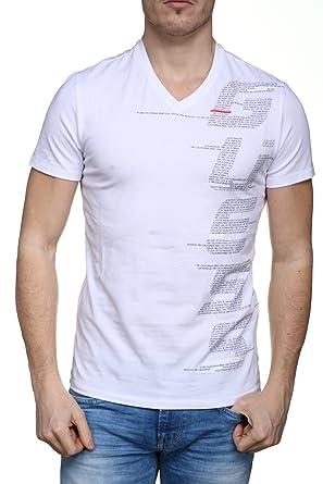 Guess Jeans M82I28J1300 T-Shirt Short Sleeves Men Bianco A000 L