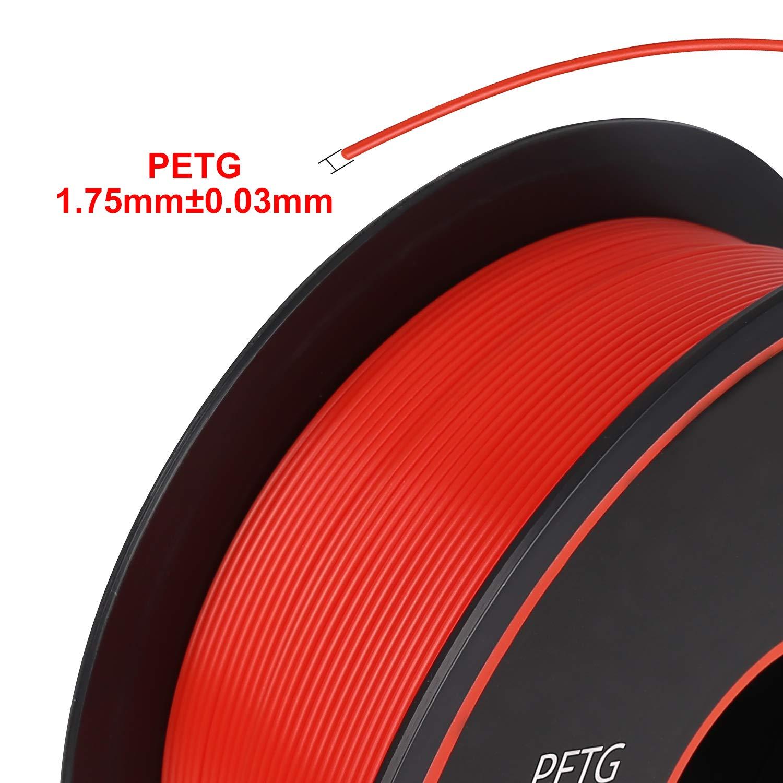 Spool Dimensional Accuracy +//-0.03mm,1kg PETG Filament 1.75mm Neat Coil iSANMATE Neat Coil PETG 3D Printer Filament Black for 3D Printer 2.2lb
