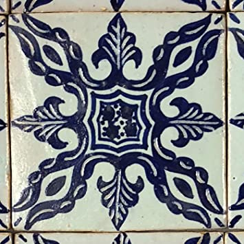 Casa Moro Marokkanische Keramikfliese Emin 10x10 Cm Blau Weiss Handbemalte Orientalische Fliese Kunsthandwerk Aus Marokko Wandfliese Fur Schone Kuche Dusche Badezimmer Hbf8300 Amazon De Baumarkt