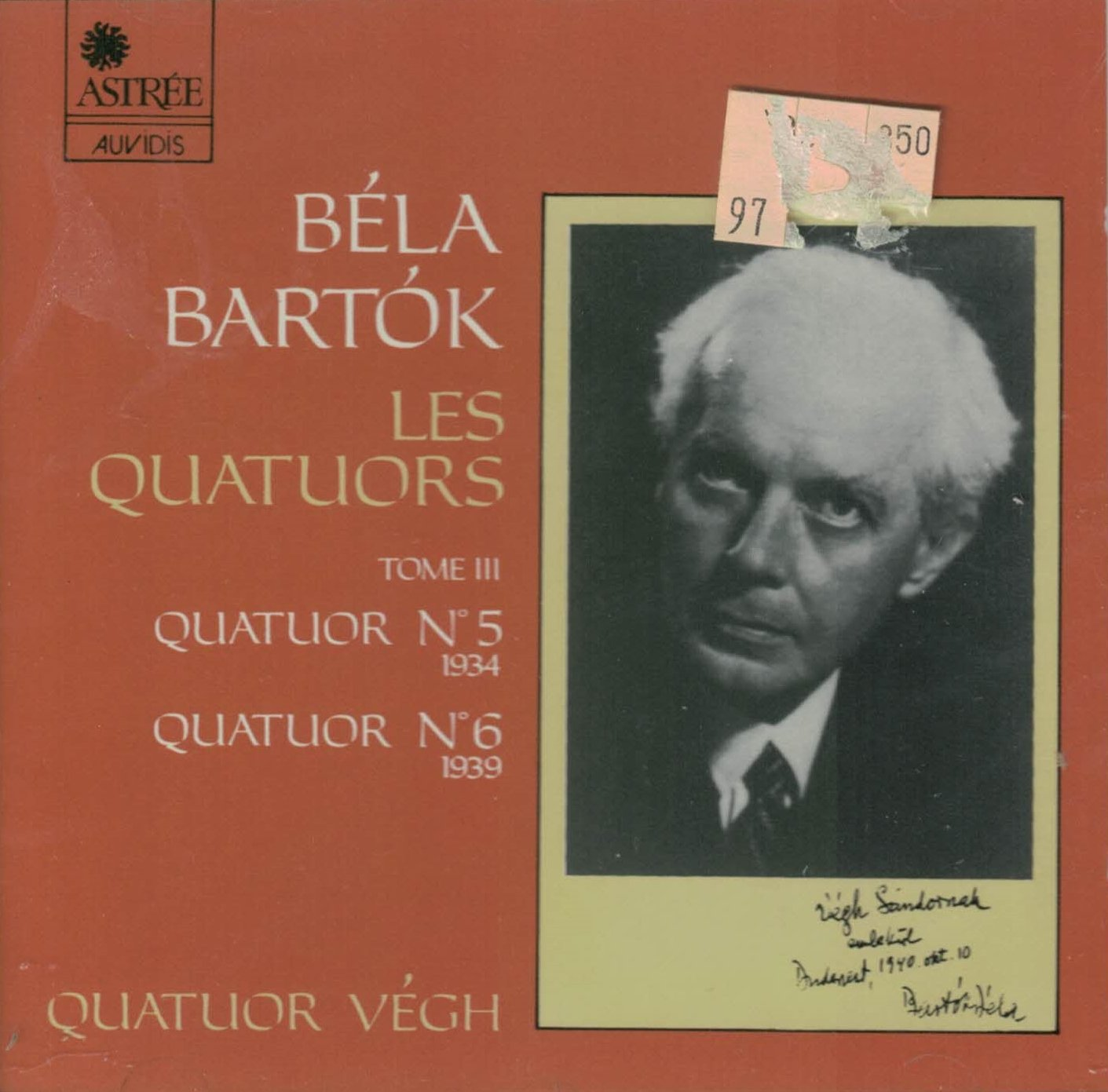 Béla Bartók: The String Quartets, Volume III Quartet No. 5, 1934 / Quartet No. 6, 1939 Végh Quartet