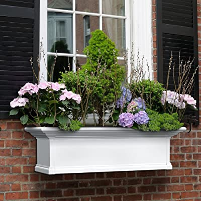 36 in. Yorkshire Window Box in White : Garden & Outdoor