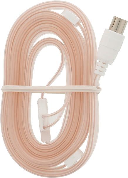 NEDIS -Cable con conector coaxial hembra para recepción de emisión FM (clavija de 9,5 mm), color rosa