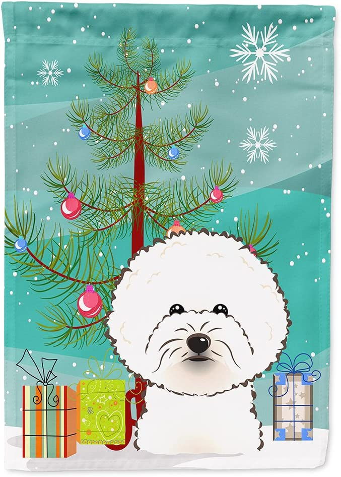 Caroline's Treasures BB1589GF Christmas Tree and Bichon Frise Flag Garden Size, Small, Multicolor