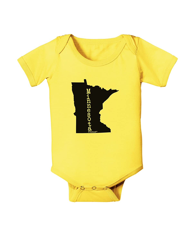 United States Shape Baby Romper Bodysuit TooLoud Minnesota