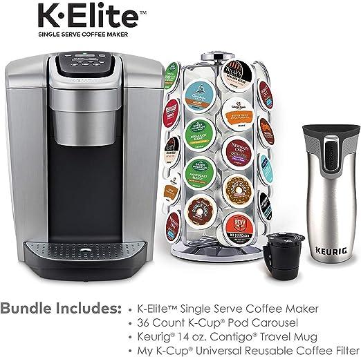 Amazon.com: K-Elite - Cafetera para café, plata cepillada y ...