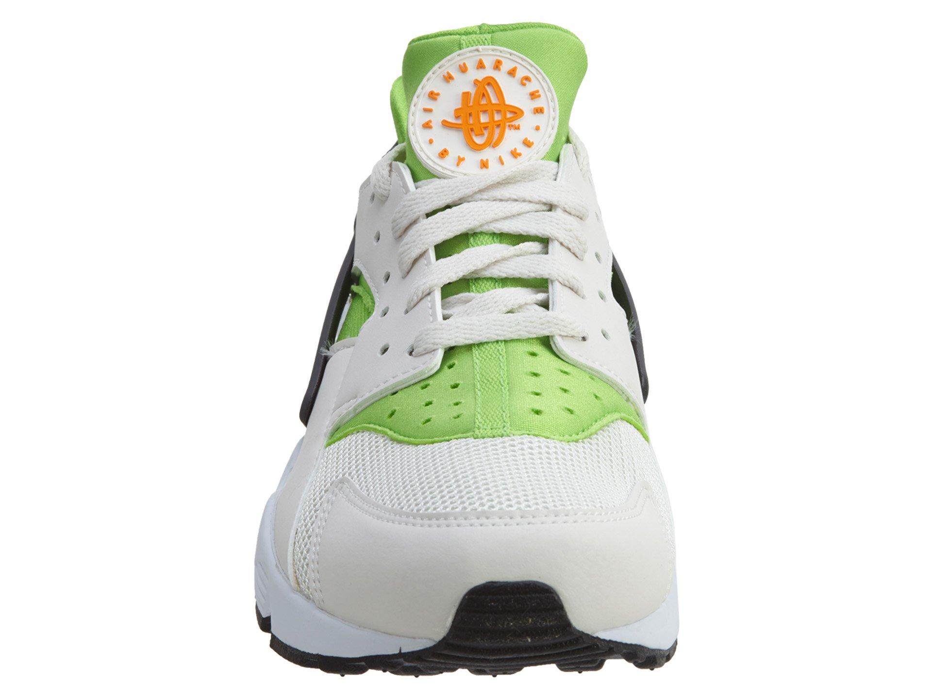 Nike Men's Air Huarache Actn Green/Vvd Orng Phntm Wht Running Shoe 10.5 Men US by NIKE (Image #5)