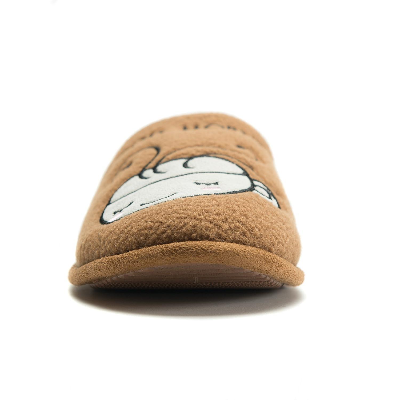 Lightweight /& Breathable for All Seasons Free Spirit Unisex Fleece Coffee Cartoon Slide On Slippers