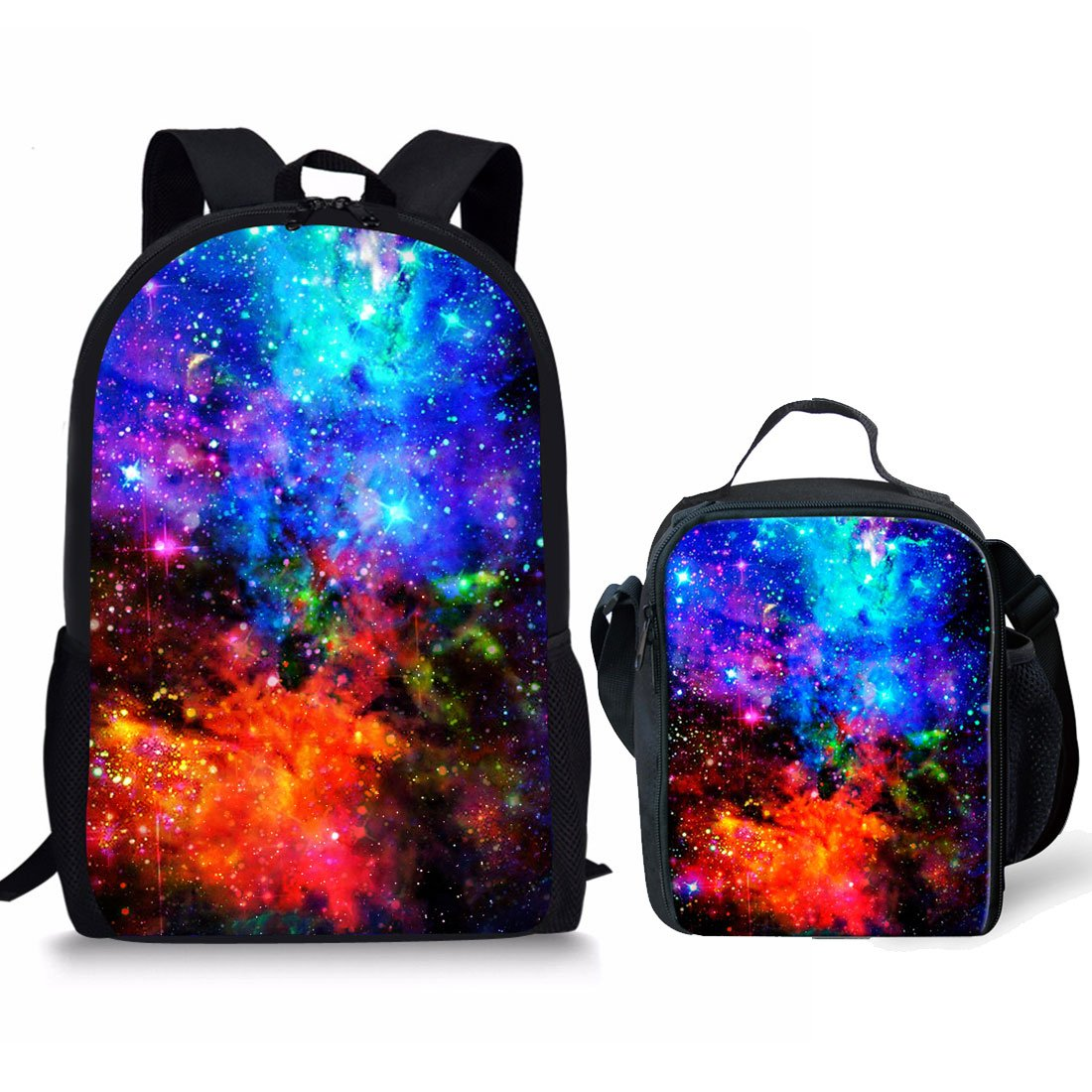 showudesignsカラフルWarmer Lunchバッグwith Galaxy印刷for Children Kids S  color 3 set B07FKLGF1J