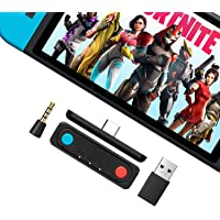 HYCARUS Bluetooth 5.0 Audio Transmitter Adapter w/APTX Low Latency Compatible with Nintendo Switch & Switch Lite, PS4 PC…
