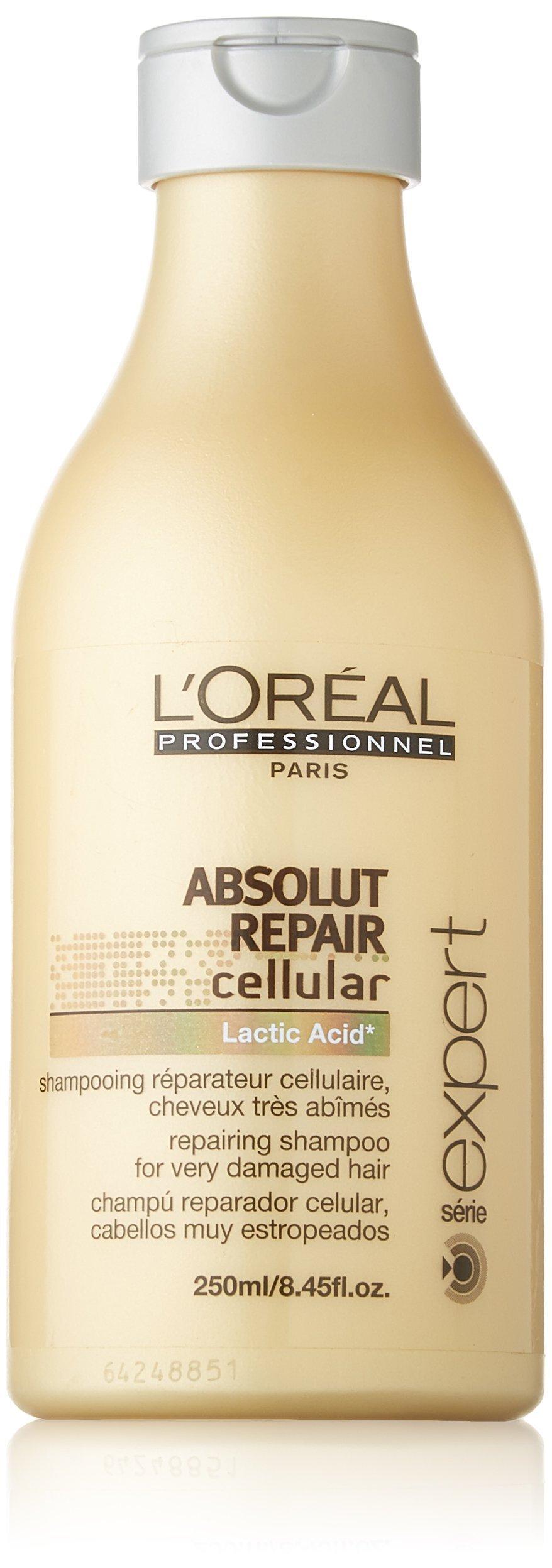 L'oreal Professional Paris Absolut Repair Cellular Lactic Acid Shampoo, 8.45-Ounce Bottle