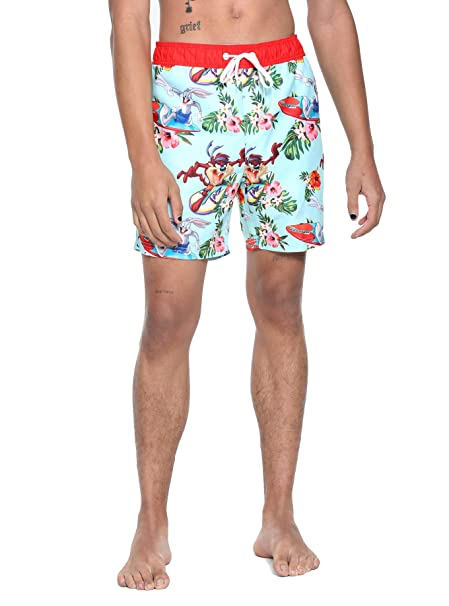 Amazon.com: Looney Tunes Bugs & Taz Swim Trunks: Clothing