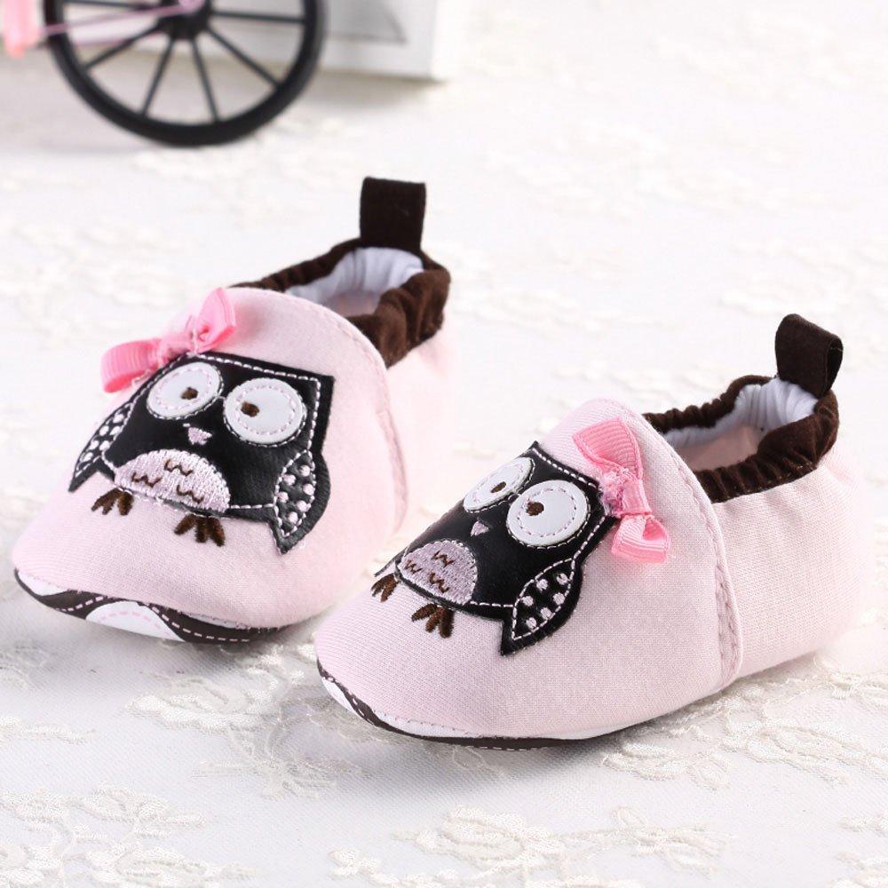 Chaussures Premiers Pas Chaussures de berceau B/éb/é Fille Chaussures 0-6 mois Webla Chaussures B/éb/é Chaussons Semelle Souple Hibou Mignon