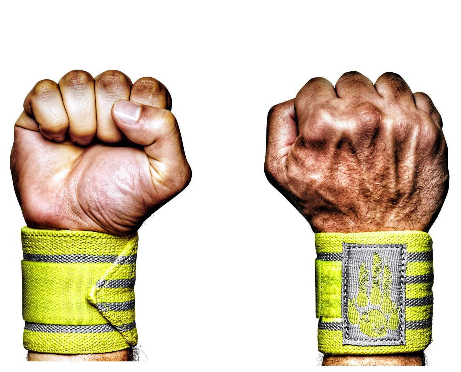MANIMAL: The Best Weightlifting Straps with Superior Wrist Support, 1 Wrist Wraps Trusted by Professional Powerlifting, Strongman, Crossfit and Olympic Athletes - Radioactive